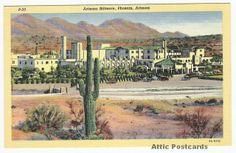 Vintage linen postcard of the Arizona Biltmore Resort & Spa near Phoenix, Arizona.