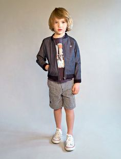 No Added Sugar summer 2014 boyswear preview, the stripes carry through for boys too.