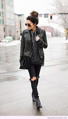 Rocker Girl outfit, all black set