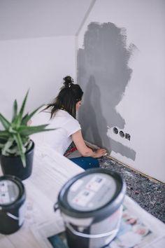 Eine Betonoptik Wand Verleiht Jedem Raum Industrieloft Charakter.  Betonoptik Selber Machen, Ist Ganz Leicht