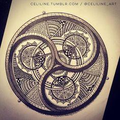 Celiline.Art   Just finished that one I started week ago !  #sacredgeometry
