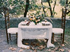 Outdoor, fall wedding reception | Erika Delgado Photography | see more on: http://burnettsboards.com/2014/12/fall-romance-florida/