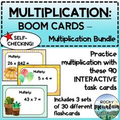 This digital product includes:Instructions for teachers on to set up a Boom account & assign decks to students3 sets of 30 self-checking cards (90 cards total) which will be added to your library on www.boomlearning.com when the link is appliedIncludes:Single Digit Multiplication (Boom Cards)2-D... 3rd Grade Math, Grade 3, Fraction Word Problems, Data Tracking, Multiplication, Deck Of Cards, Task Cards, Self, Classroom
