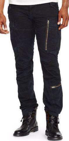 #POLO RALPH LAUREN Men 34W 30L MILITARY CARGO Black pants Low Waist Straight Leg RalphLauren visit our ebay store at  http://stores.ebay.com/esquirestore