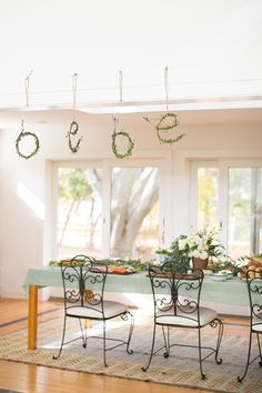 Rustic French baby shower