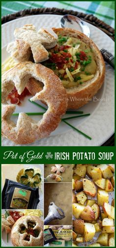 Pot of Gold Irish Potato Soup for St. Patrick's Day | homeiswheretheboatis.net #recipe