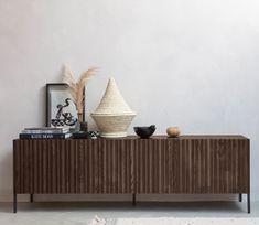WOOOD Exclusive Gravure tv meubel essen - Basiclabel Furniture, House, Living Room, Home, Interior, Shelves, Floating Shelves, Cabinet, Home Decor