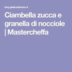 Ciambella zucca e granella di nocciole   Mastercheffa