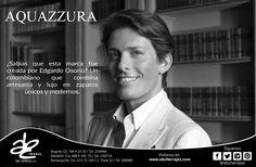 Diseñador Colombiano creador de la marca Aquazzurra en 2011 #ABCherrajes #Style #Designs #Luxury #Colombia #Aquazzurra