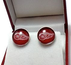 Cuff Links Detroit Red Wings Hockey Team by CynthiaCoolBeans, $24.95