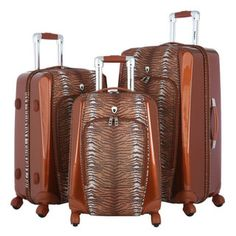 Olympia 'Mankato' 3-piece Hybrid Spinner Luggage Set | Overstock.com Shopping - The Best Deals on Three-piece Sets