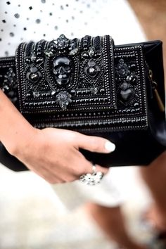 McQueen Clutch #fashion #accessories #mcqueen