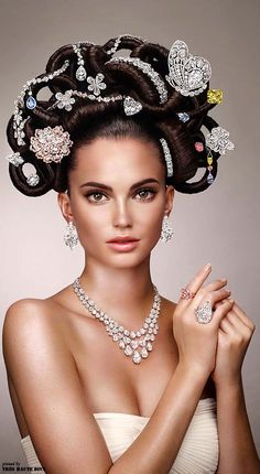 Graff's 'Hair & Jewel' Half-Billion-Dollar Diamond Bejeweled Hairdo