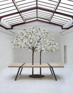 Table Pi3 Par Roderick Fry pour moaroom Table Bois Métal Design Manger Haute