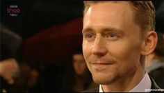 "This Tom Hiddleston GIF makes me happy! His smile looks like it's saying, ""I've made it! I've finally made it!"""