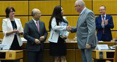 A estudante Alice Cunha da Silva, de 25 anos, foi a primeira brasileira ganhar o prêmio de melhor pe...