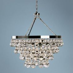 Robert Abbey Bling Collection Convertible Chandelier | LampsPlus.com