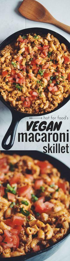 gluten-free & vegan macaroni skillet (aka Hamburger Helper!) | RECIPE on…