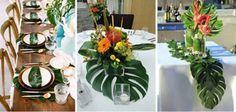 12 Palm Leaf Decorations Luau Tropical party Beach theme | Etsy