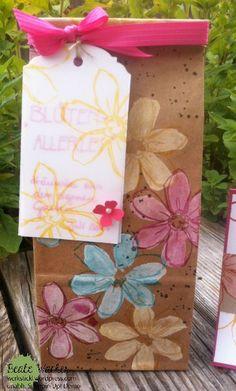 Garden in Bloom, Stempeltechnik, Geschenktüten Kaffeehaus, Wassermelone, Stampin Úp!, Mitbringsel, Geschenk aus dem Garten, Pergamentpapier