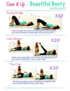 Your Beautiful Booty Workout with toneitup.com and livestrong.com woman <3 check it out!