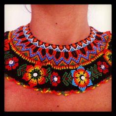 Collares Mostacillas, Collares Artesanales, Collares Crochet, Collares Tejidos, Chaquiras, Gypsy Guajira, Línea Gypsy, Con Mostacillas, Mano Con