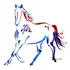 i want this to be my horse tattoo..but maybe not those colors