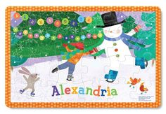 Your child will love seeing his or her name personalized on the My Magical Snowman Personalized Placemat from I See Me! Shop this winter themed gift today! Personalised Placemats, Personalized Books For Kids, Personalized Puzzles, Personalized Christmas Gifts, Christmas Gifts For Kids, Best Kids Toys, Toys For Boys, Jigsaw Puzzles For Kids, Book Gifts
