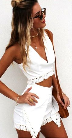 #summer #musthave #outfits | White + Tan