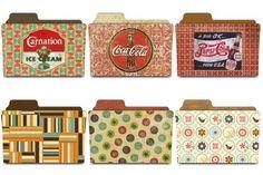 Vintage icons folders. #vintage, #icon, #folder