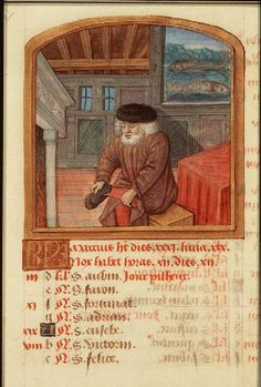 March - Book of Hours (use of Rome), Paris (?); c. 1490-1500 - The Hague, Koninklijke Bibliotheek, 76 F 14