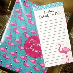 Flamingo Planner and magnetic listpad #personalised #stationery #personalisedstationery #cupikdesign #india #magneticlistpad #planner #onlinestationery 