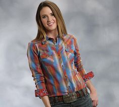 Popular Long And Lean Shirt In A Colorful Plaid * Double Needle Topstitch * Fancy Retro Yokes * Metal Star Snaps * Flap Pockets * Garment Washed  100% COTTON