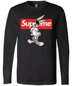 Bug Bunny Rabbit Supreme Long Sleeve - UnicornAZ - Fortnite, Sport, Trending apparel Bugs Bunny, Bunny Rabbit, Supreme, Sport, Long Sleeve, Sleeves, Cotton, Mens Tops, Style