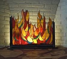 Image result for stained glass flames