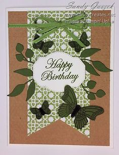 Paper Pumpkin - July 2019 - On My Mind. Click on link to see all of my alternative On My Mind PP Cards. Card Crafts, Paper Crafts, Birthday Cards, Happy Birthday, Stampin Up Paper Pumpkin, Pumpkin Ideas, Card Making Techniques, Masculine Cards, Craft Kits