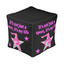 BRIGHT PINK GYMNASTICS IS MY LIFE DESIGN CUBE POUF http://www.zazzle.com/mysportsstar/gifts?cg=196751399353624165&rf=238246180177746410 #Gymnastics #Gymnast #WomensGymnastics #Gymnastgift
