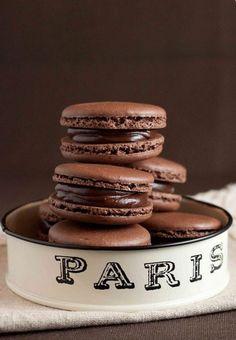French Chocolate Macarons with Chocolate Ganache Recipe
