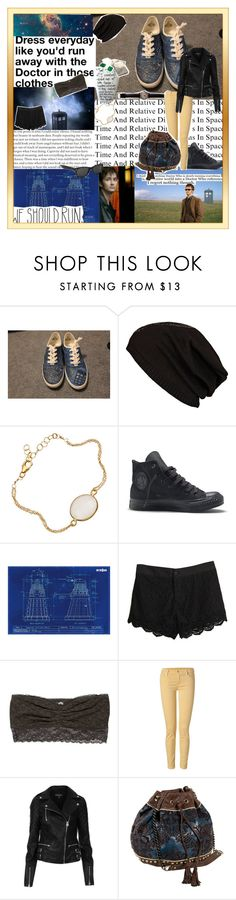 """""""Wibbly wobbly timey wimey."""" by walxee-xweetok ❤ liked on Polyvore featuring River Island, Converse, Chloé, Retrò, American Eagle Outfitters, 7 For All Mankind, Topshop, IMoshion, Ray-Ban and women's clothing"""