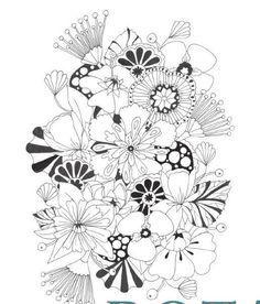 12 best botanical wonderland images on Pinterest | Coloring books ...