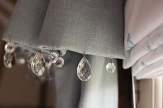 have any extra chandelier crystals lying around . . . or for a lampshade, too.