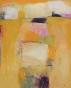 Carolyn Cole, Yellow 61203 31x25, mixed media on canvas, September 2012 at Gallery KH