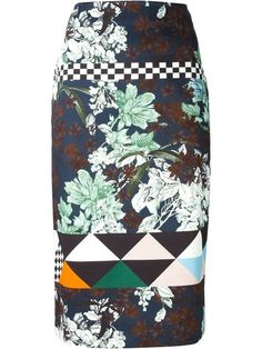 Shop MSGM mixed print straight skirt in Luisa World from the world's best independent boutiques at farfetch.com. Over 1000 designers from 300 boutiques in one website.