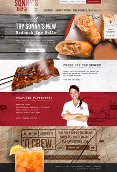 Unique Web Design, Sonny's BBQ via @sille83 #WebDesign #Design