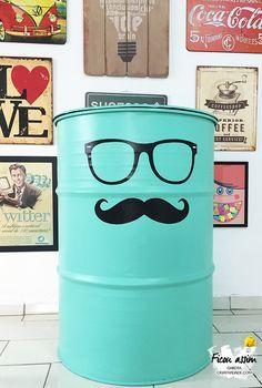 Como fazer tambor decorativo - Passo a Passo DIY - Tambor Decorado  http://www.garotacriatividade.com/tambor-decorativo/  #reciclagem #DIY #ideia #idea #recycly #upcycle #criativo #criatividade #tambor #barril
