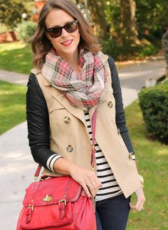 A solid vest can be paired with all of your favorite fall outfits.