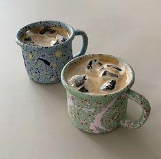 Ceramic Pottery, Pottery Art, Ceramic Art, Ceramic Cups, Cafe Central, Keramik Design, Think Food, Cool Mugs, Aesthetic Food