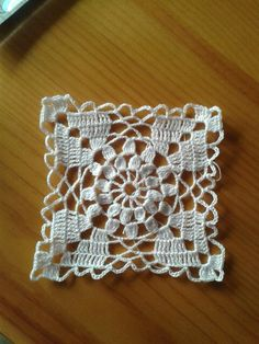 Crochet#Muestra cuadro #Hilo Blanco