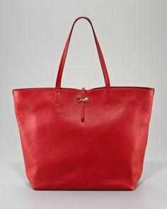 2bf24c5ff47b Salvatore Ferragamo Gina Leather Tote Bag