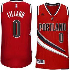 254fb8e8a10 Men's Damian Lillard Portland Trail Blazers adidas Red Swingman Jersey